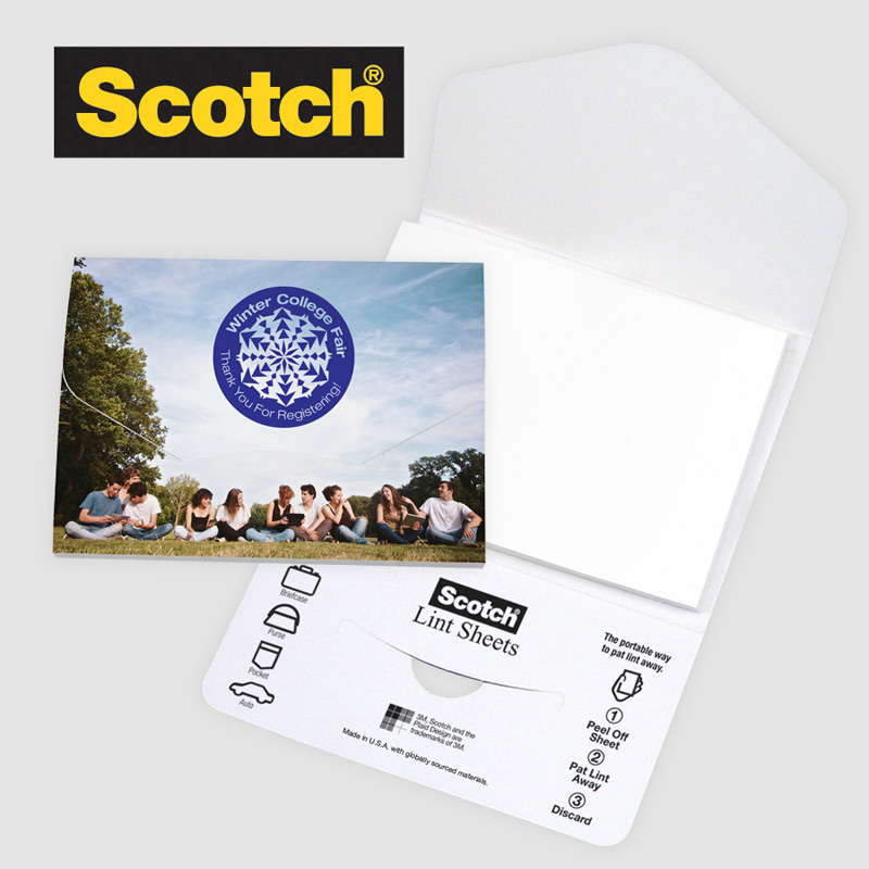 HOT DEAL - Scotch® Custom Printed Lint Sheets Pocket Pack