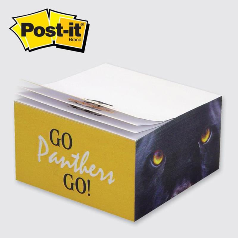 "Post-it® Custom Printed Notes Half-Cube — C345 2-3/4"" x 2-3/4"" x 1-3/8"""