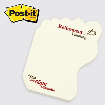 Post-it® Custom Printed Notes Shapes Foot (#107)