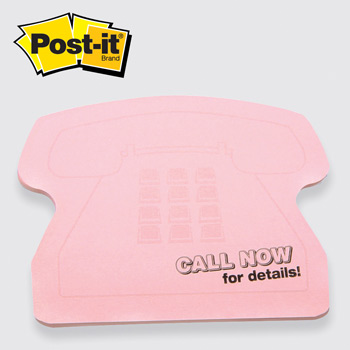 Post-it® Custom Printed Notes Shapes Telephone (#11)