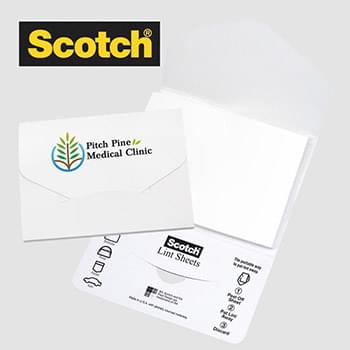 Scotch® Custom Printed Lint Sheets Pocket Pack — Low Quantity