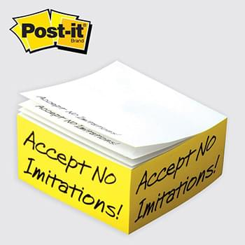 "Post-it® Custom Printed Notes Half-Cube — C525 4"" x 4"" x 2"""