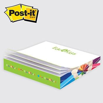 "Post-it® Custom Printed Notes Slim-Cube — C3100 3-3/8"" x 3-3/8"" x 1/2"""