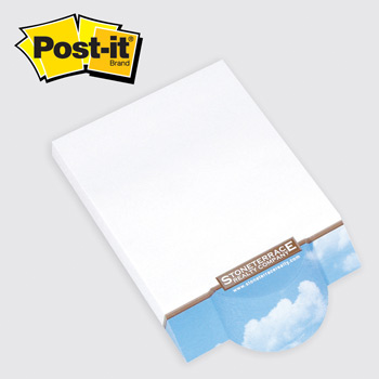 Post-it® Custom Printed Angle Note Pads — Circle