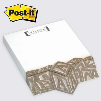 Post-it® Custom Printed Angle Note Pads — Diamond